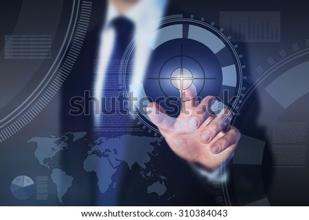 successful business management, abstract concept - stock photo