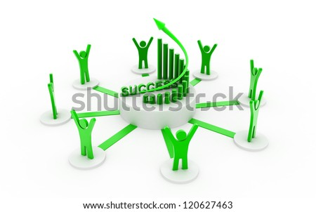 Successful business network - stock photo
