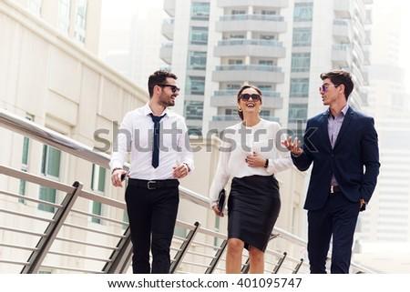 Successful business people in Dubai. - stock photo