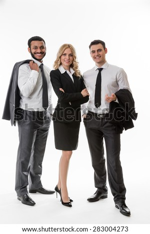 Successful business team.Business partners. - stock photo