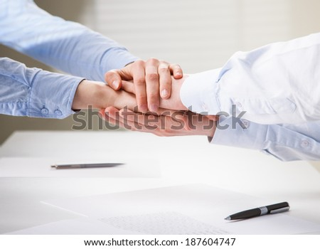Successful business team - concept of teamwork - stock photo