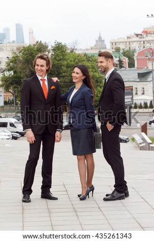 Successful business team. Full length of group of confident business people.  - stock photo