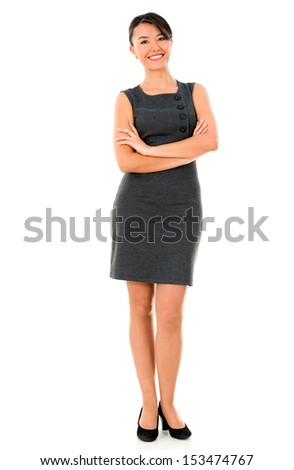 Successful business woman - isolated over a white background  - stock photo