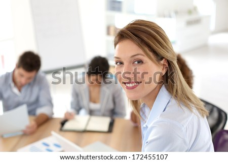 Successful businesswoman portrait - stock photo