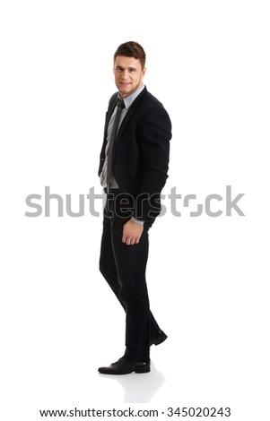 Successful confident businessman in formalwear. - stock photo