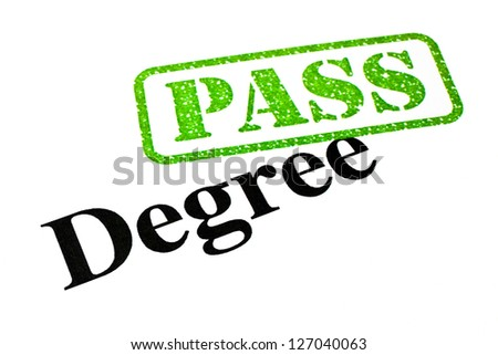 Successful Degree results. - stock photo