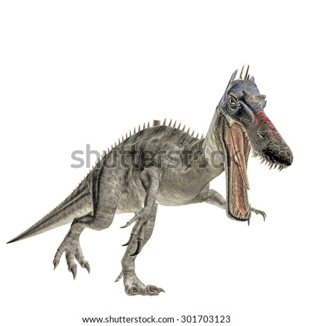 suchomimus isolated on white background - stock photo