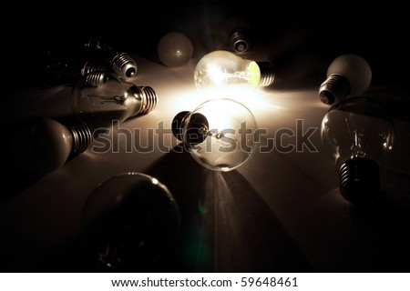 Sudden Inspiration - stock photo
