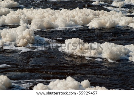 suds water - stock photo
