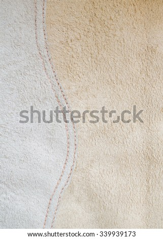 Suede leather texture with curve stitches - stock photo