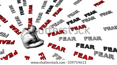 Suffering From Fear with a Victim Crying Male - stock photo
