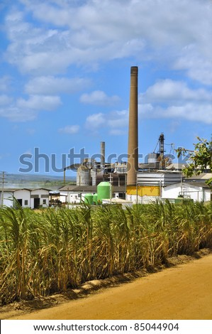 Sugar and alcohol mill in Brazil - stock photo