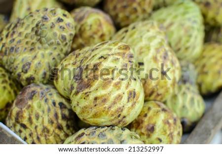 Sugar apple (Annona squamosa Linn) - stock photo