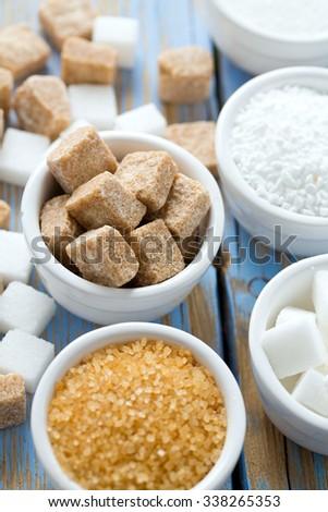 sugar assortment - stock photo