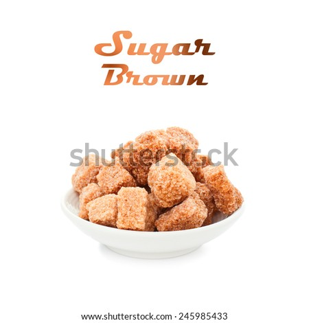 sugar brown - stock photo