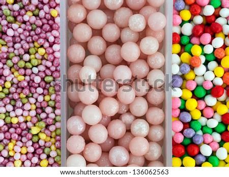 Sugar cake decorations - background - stock photo