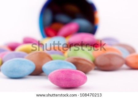 sugar coated pills - stock photo