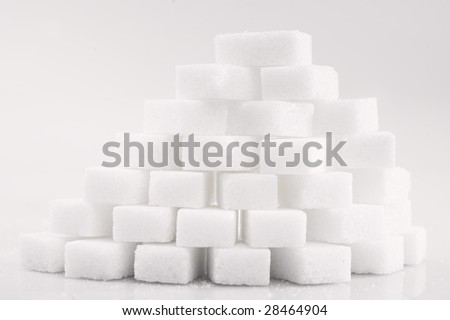 Sugar crystals - stock photo