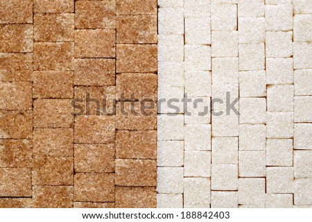 Sugar cubes background - stock photo