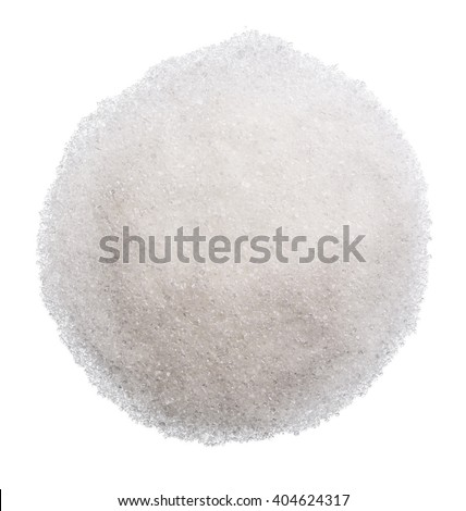 Sugar isolated on the white background clipping path - stock photo
