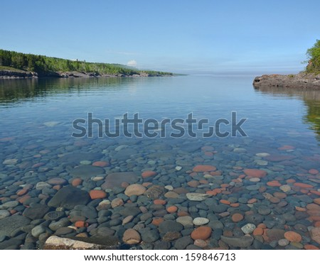 Sugar Loaf Cove 1, Lake Superior,  Minnesota - stock photo