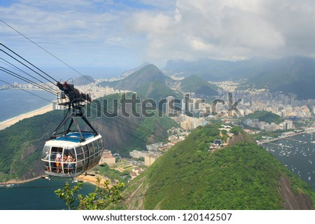 Sugar Loaf Mountain Cable Car - stock photo
