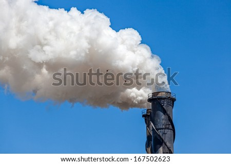 sugar mill smoke stack Tully - stock photo
