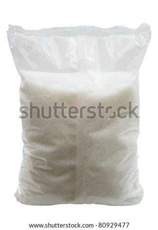Sugar pack isolated over white background - stock photo