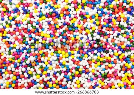 sugar sprinkles ball closeup - stock photo