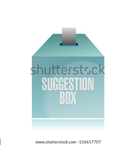 suggestion box illustration design over a white background - stock photo