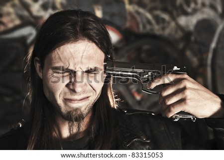 Suicide - stock photo