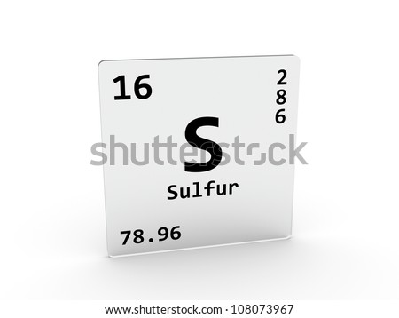 Sulfur symbol - S - element of the periodic table - stock photoElement Sulfur Periodic Table