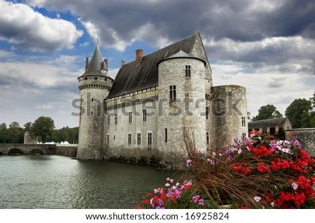 Sully-sur-Loire castle - stock photo