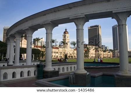 Sultan Abdul Samad Building in Kuala Lumpur Malaysia. - stock photo