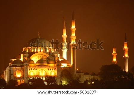 Sultanahmed Mosque at Night - stock photo