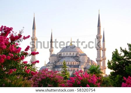 Sultanahmet, Blue Mosque - stock photo