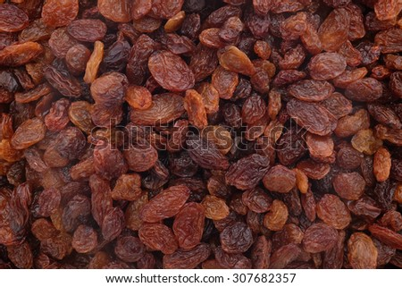 Sultanas as an abstract background texture - stock photo