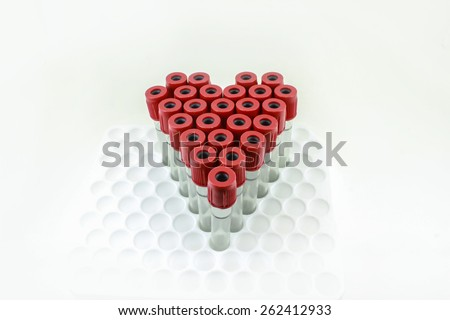 Sum tubes for test. - stock photo