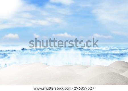 Summer and Beach Concept. Sandy Beach - stock photo