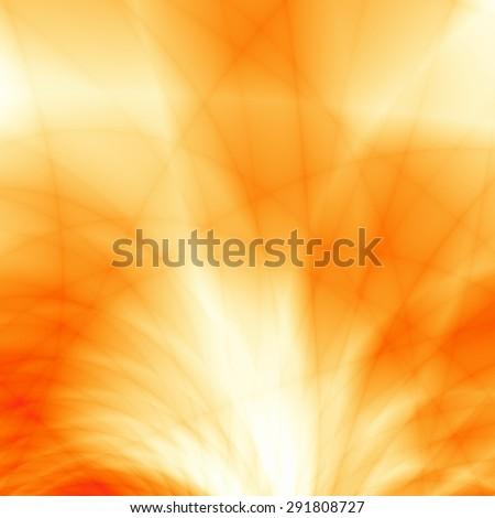 Summer background golden orange burst power graphic design - stock photo