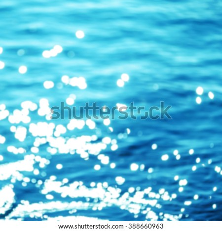 Summer Background / Sparkles over blue water. - stock photo