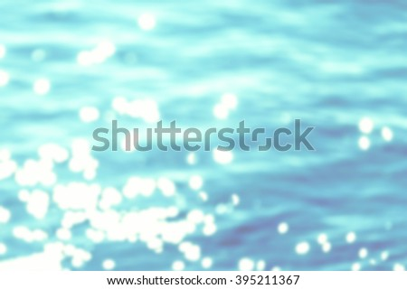 Summer Background / Sparkles over blue water, fog - stock photo
