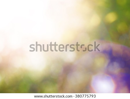 Summer background with bright beautiful colorful bokeh  - stock photo