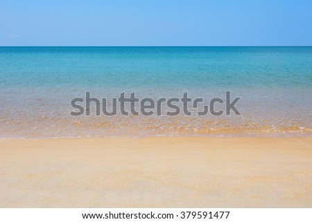 Summer beach and sea   - stock photo