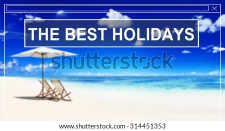 Summer Beach Friendship Best Holiday Vacation Concept - stock photo