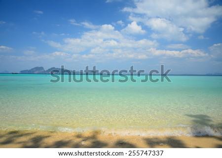 Summer Beach on Paradise Island - stock photo