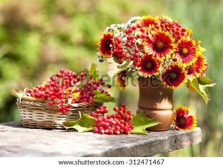 Summer bouquet of flowers  - stock photo