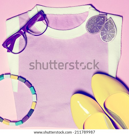 Summer bright pink look - stock photo