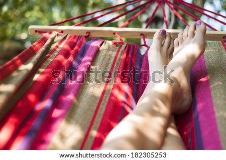 Summer chill - stock photo