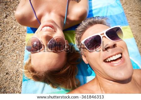 Summer couple - stock photo